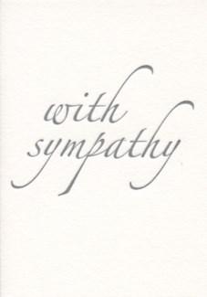 With Sympathy Letterpress 3.5x5|Archivist