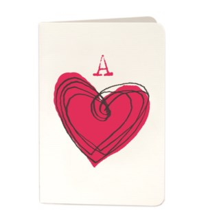 Ace of Hearts scribble 4x6|Archivist