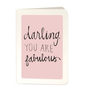 Darling Fabulous 4x6|Archivist