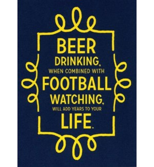 Beer & Football 5x7|A Smyth
