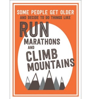 Run Marathons 5x7|A Smyth