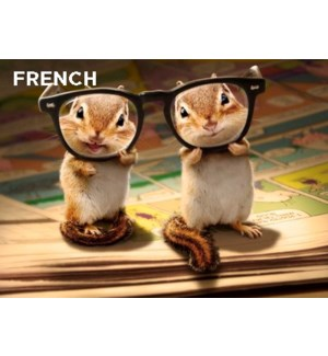 French Chipmunks With Thick Glasses 5x7 |Z
