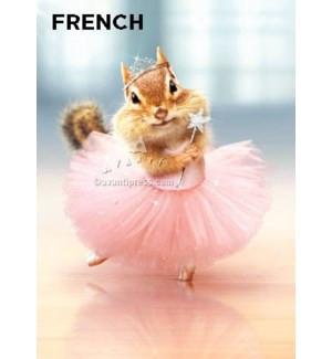 French Chipmunk Ballerina French  5x7 |Z