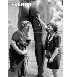 French Women Touching Statue|Z