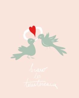 Bravo les tourtereaux 4.25x5.5|Bien A Vous