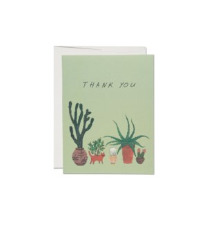 Cactus Thank You boxed