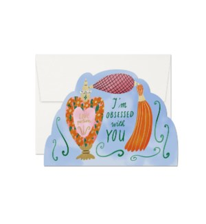Obsessed With You Die Cut Foil Love Card