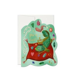 Fish Catch Die Cut Foil Love Card