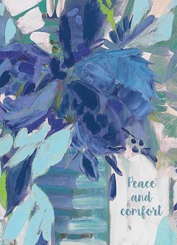Blue Flowers In Vase 5x7 Calypso