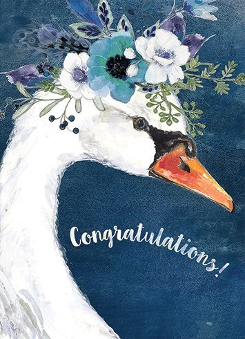 Swan With Flower Crown 5x7|Calypso