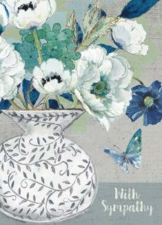 Blue And White Floral 5x7|Calypso