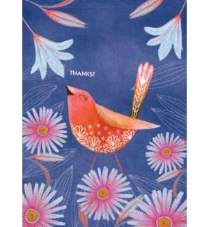 Blue Floral Bird|Calypso
