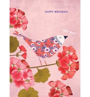 Pink Floral Bird|Calypso