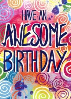 Awesome Birthday 5x7|Calypso