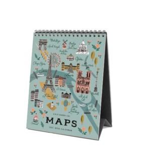 2021 City Maps Desk Calendar
