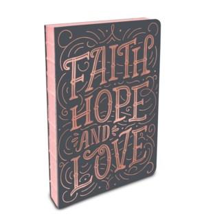 Coptic-Bound Journal Faith Hope Love