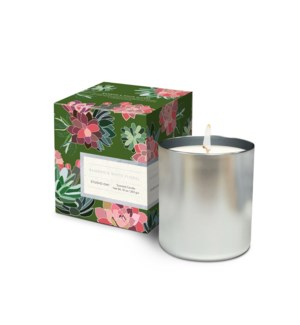Bamboo & White Floral Candle 10 oz
