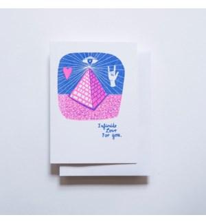 Riso Card - Infinite Love Pyramid