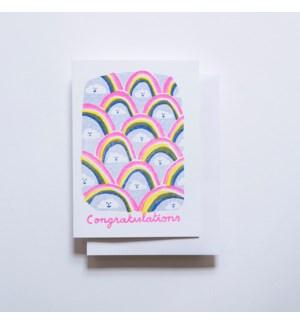 Riso Card - Congratulations Clouds