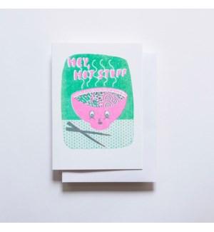 Riso Card - Hey Hot Stuff Ramen