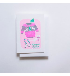 Riso Card - Warmest Holiday Cat