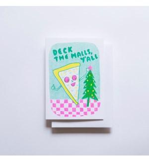 Riso Card - Deck the Halls Pizza