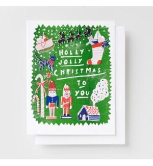 Riso Card - Holly Jolly Xmas