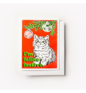Riso Card - Feline Festive