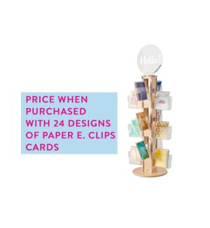 SPINNER-FULL CARD ORDER 24 Pocket Counter Clear Solutions