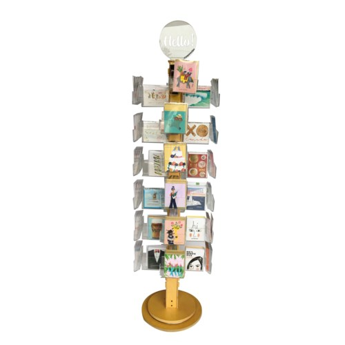 48 pkt ply/clear floor spinner Vertical Card Pocket