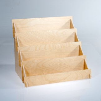 Wooden display (4928) - holds 8 to 10 card styles