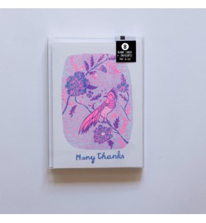 Riso Card Set - Many Thanks Bird