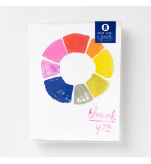 Riso Card Set - Thank You Color Wheel