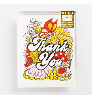 Riso Card Set - Thank You Floral