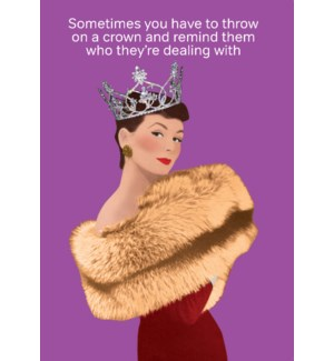 Throw on A Crown|Cath Tate Cards
