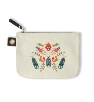Folk Art Beetles Large Pouch