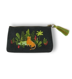 Jungle Cat Triangle Pouch