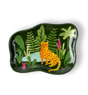 Jungle Cat Ceramic Trinket Tray