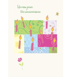 Birthday Candles 5 x7|Designer Greetings