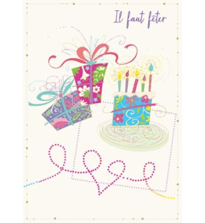 Birthday Presents/Cake 5 x7|Designer Greetings