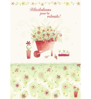 Wheel Barrel Flowers 5 x7|Designer Greetings
