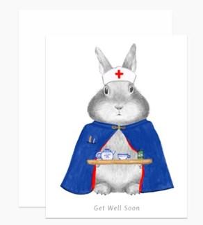 Nurse Bunny 4.25x5.5 |Dear Hancock