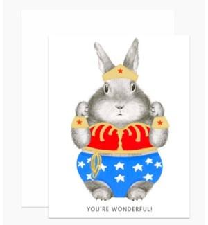 Wonder Bunny 4.25x5.5 |Dear Hancock