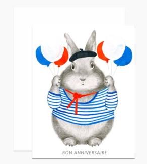 Bon Anniversaire Bunny 4.25x5.5 |Dear Hancock