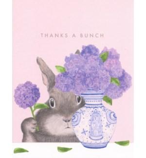 Bunny arranging lilacs|Dear Hancock