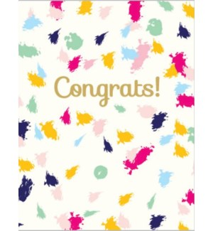 Congrats Brush 4.25x5.5|Designs by Val