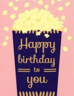 Birthday Popcorn 4.25x5.5|Designs by Val
