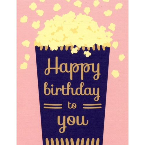 Birthday Popcorn 4.25x5.5|Designs by Val