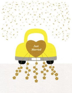 Just Married 4.25x5.5|Designs by Val