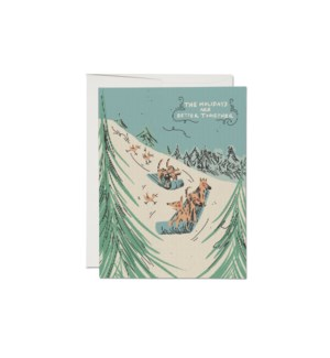 Sled Dogs Holiday card